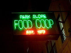 "Enseigne de ""The Park Slope Food Coop"" (D.R.)"